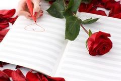 καρδιά κοριτσιών σχεδίων Στοκ Εικόνες