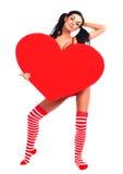 καρδιά κοριτσιών Στοκ Εικόνες
