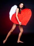 καρδιά κοριτσιών Στοκ φωτογραφία με δικαίωμα ελεύθερης χρήσης