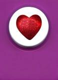 καρδιά κουμπιών στοκ εικόνες