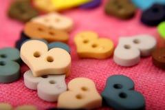 καρδιά κουμπιών Στοκ φωτογραφία με δικαίωμα ελεύθερης χρήσης
