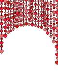 καρδιά κουρτινών Στοκ φωτογραφίες με δικαίωμα ελεύθερης χρήσης
