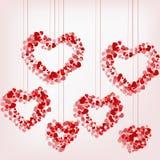 Καρδιά κρεμαστών κοσμημάτων των καρδιών Στοκ φωτογραφίες με δικαίωμα ελεύθερης χρήσης