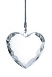καρδιά κρυστάλλου Στοκ Φωτογραφίες