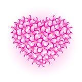 καρδιά λουλουδιών Στοκ Φωτογραφία