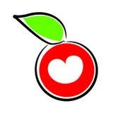 καρδιά μήλων Στοκ Εικόνες