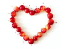 καρδιά μήλων στοκ φωτογραφίες