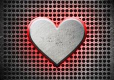 Καρδιά μετάλλων διανυσματική απεικόνιση