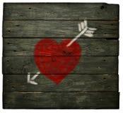 Καρδιά με το βέλος Στοκ εικόνα με δικαίωμα ελεύθερης χρήσης