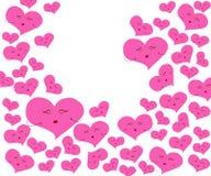 Καρδιά με το ροζ στο άσπρο υπόβαθρο διανυσματική απεικόνιση