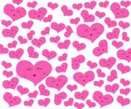 Καρδιά με το ροζ στο άσπρο υπόβαθρο απεικόνιση αποθεμάτων