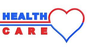 Καρδιά με το σημάδι υγειονομικής περίθαλψης ελεύθερη απεικόνιση δικαιώματος