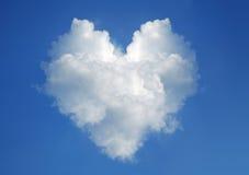 καρδιά μορφής σύννεφων Στοκ Εικόνα