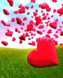 καρδιά μπαλονιών που διαμ& Στοκ φωτογραφία με δικαίωμα ελεύθερης χρήσης