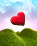 καρδιά μπαλονιών που διαμ& Στοκ Φωτογραφίες
