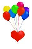 καρδιά μπαλονιών απεικόνιση αποθεμάτων