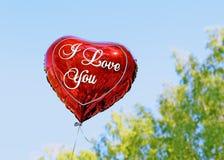 καρδιά μπαλονιών Στοκ Εικόνα