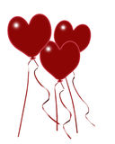 καρδιά μπαλονιών Στοκ Φωτογραφία