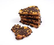 καρδιά μπισκότων που διαμ&om Στοκ εικόνα με δικαίωμα ελεύθερης χρήσης