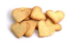 καρδιά μπισκότων που διαμ&om Στοκ Φωτογραφία
