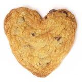καρδιά μπισκότων σοκολάτας τσιπ που διαμορφώνεται Στοκ Εικόνα