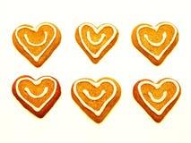 καρδιά μπισκότων Χριστου&gam Στοκ εικόνες με δικαίωμα ελεύθερης χρήσης