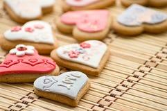 καρδιά μπισκότων Στοκ Εικόνες