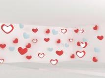 καρδιά πέρα από το κόκκινο λ η τρισδιάστατη απεικόνιση δίνει Στοκ εικόνα με δικαίωμα ελεύθερης χρήσης