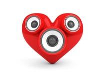 καρδιά πέρα από το κόκκινο λ διανυσματική απεικόνιση