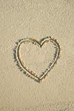 καρδιά παραλιών Στοκ εικόνες με δικαίωμα ελεύθερης χρήσης