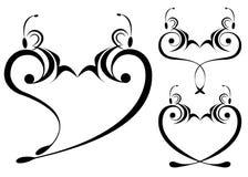 καρδιά πεταλούδων διάφορ& Στοκ Φωτογραφίες