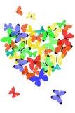 καρδιά πεταλούδων Στοκ Φωτογραφίες