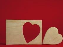 καρδιά πλαισίων ξύλινη Στοκ φωτογραφία με δικαίωμα ελεύθερης χρήσης