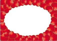 καρδιά πλαισίων οριζόντια διανυσματική απεικόνιση