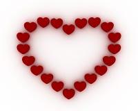 καρδιά πλαισίων Απεικόνιση αποθεμάτων