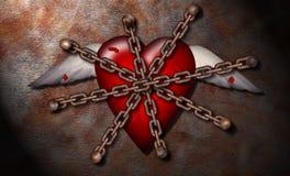 καρδιά που βασανίζεται Στοκ φωτογραφία με δικαίωμα ελεύθερης χρήσης