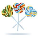 Καρδιά που διαμορφώνεται lollipop   Στοκ Εικόνες