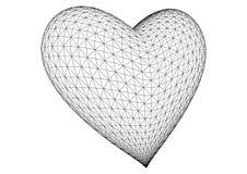καρδιά που καθίσταται τρισδιάστατη διανυσματική διανυσματική απεικόνιση