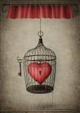καρδιά που κλειδώνεται Στοκ Εικόνες