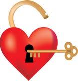 καρδιά που κλειδώνεται Στοκ Φωτογραφία