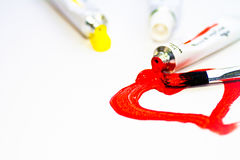 καρδιά που χρωματίζεται Στοκ φωτογραφία με δικαίωμα ελεύθερης χρήσης
