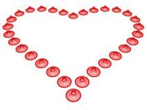 καρδιά προφυλακτικών Ελεύθερη απεικόνιση δικαιώματος