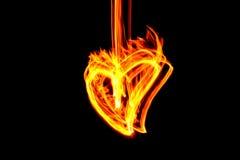 καρδιά πυρκαγιάς Στοκ φωτογραφίες με δικαίωμα ελεύθερης χρήσης