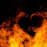 καρδιά πυρκαγιάς Στοκ εικόνα με δικαίωμα ελεύθερης χρήσης