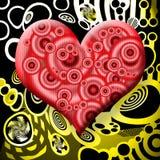 καρδιά ραδιενεργός Στοκ φωτογραφία με δικαίωμα ελεύθερης χρήσης