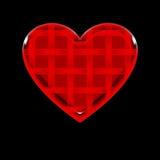 καρδιά ριγωτή Στοκ Φωτογραφία