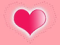 καρδιά ροζ Στοκ Εικόνα