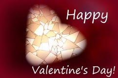 Καρδιά σε ένα κόκκινο υπόβαθρο Αγάπη, ευτυχής ημέρα βαλεντίνων ` s Στοκ Εικόνες