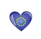 καρδιά σημαιών Στοκ Φωτογραφίες