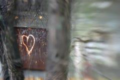 καρδιά σκουριασμένη Στοκ Εικόνα